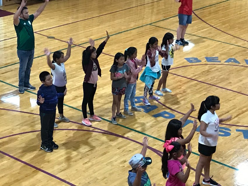 Hispanic students participate in the Ohio County Baptist Association VBS at Beaver Dam Baptist Church. (Submitted photo)