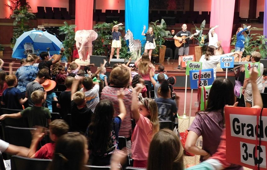 First Baptist Church of Panama City, Fla., hosted Vacation Bible School the week of June 10-14 as destruction still lingered in their community. Nearly 500 children from the area participated, around one-third of them unchurched.. )Submitted photo)