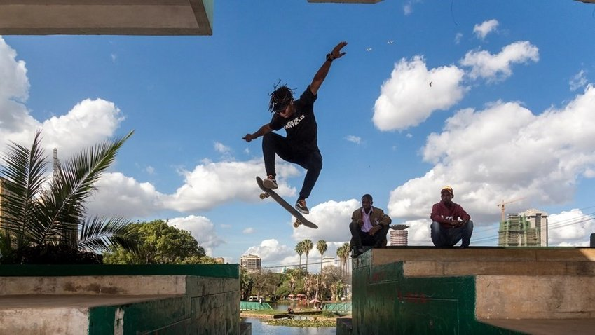 Kelvin Murage uses skateboarding to share the Gospel in Nairobi, Kenya, and in a global skateboarding community. (Photo by Anthony Rivers)
