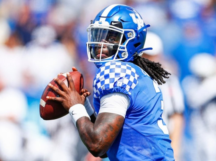 Kentucky quarterback Terry Wilson threw for 246 yards and a pair of touchdowns in Kentucky's win over Toldeo last weekend at Kroger Field. (UK Athletics Photo)