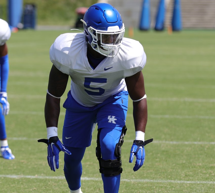 Xavier Peters was cleared to play for the Wildcats Tuesday and will give the team a boost on the defensive side of the football. (Kentucky Today/Keith Taylor)