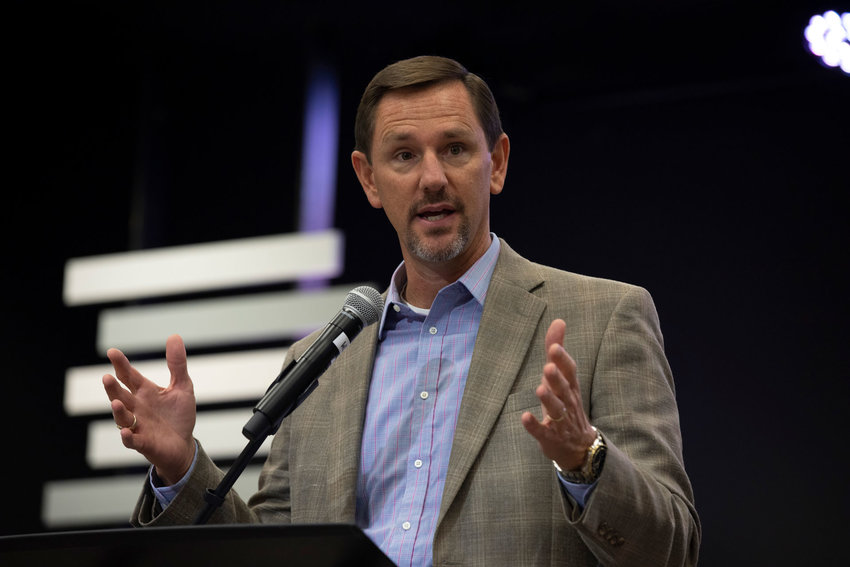 "IMB President Paul Chitwood pledges support to missionaries on task to fulfill the Great Commission. ""Every part of our work is an effort to ensure that IMB and our Southern Baptist Convention of churches are doing everything we can do to see the vision of heaven fulfilled,"" he said Sept. 26 during the IMB board of trustees' meeting. (IMB Photo by Chris Carter)"