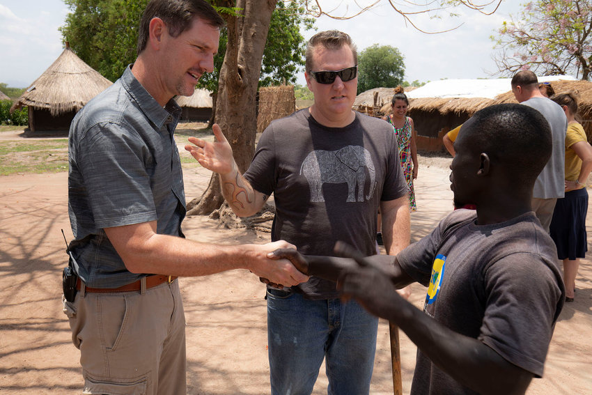 Missionary Jeremy Taliaferro introduces IMB's president, Paul Chitwood, to local church leaders. Photo by Chris Carter/IMB