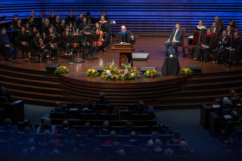 Adam W. Greenway was inaugurated Oct. 21 as Southwestern Seminary's ninth president during a ceremony at the seminary's Fort Worth campus. SWBTS photo
