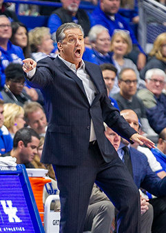 Kentucky coach John Calipari reacts during his team's win over Utah Valley earlier this week at Rupp Arena.  The Wildcats host Mount St. Mary's Friday night. (Kentucky Today/Tammie Brown)