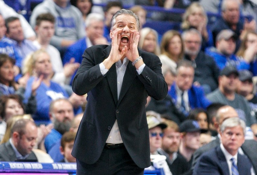 Kentucky coach John Calipari and the Wildcats will play five games this month, including a home encounter against top-ranked Louisville on Dec. 28 at Rupp Arena. (Kentucky Today/Tammie Brown)