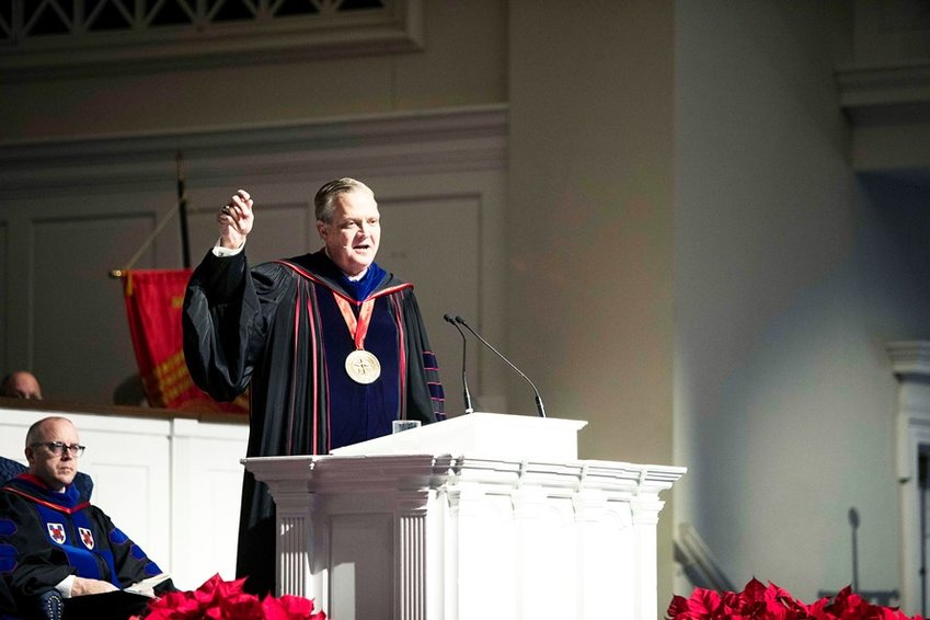 """""""We are sending out these graduates to go out into the nations and out into the pulpits and into the churches, and to speak to everyone everywhere in order to communicate the knowledge of salvation,"""" Southern Baptist Theological Seminary president R. Albert Mohler Jr. said at the seminary's commencement ceremony Dec. 13."""