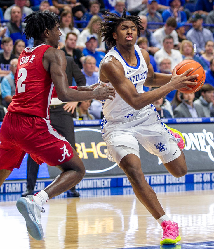 Tyrese Maxey is looking forward to his first visit to South Carolina Wednesday night. Maxey was named SEC Freshman of the Week on Monday. (Kentucky Today/Tammie Brown)