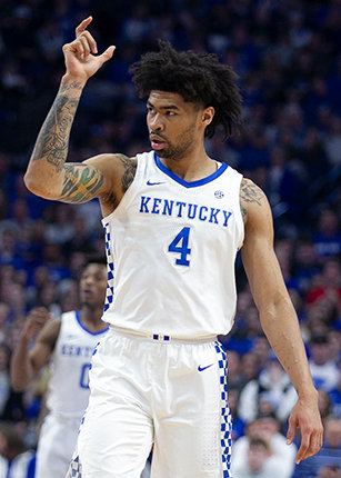 Nick Richards turned in another solid performance against Ole Miss on Saturday at Rupp Arena. The Wildcats are at LSU Tuesday night. (Kentucky Today/Tammie Brown)
