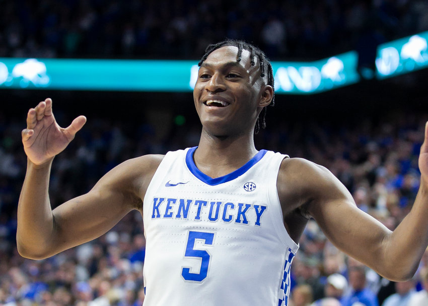 Immanuel Quickley was all smiles after the Wildcats defeated Ole Miss Saturday at Rupp Arena. Kentucky plays at LSU Tuesday night in Baton Rouge. (Kentucky Today/Tammie Brown)