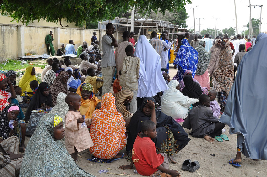 Nigerian refugees await housing after being driven from their homes by terrorists. (File Photo/AP)