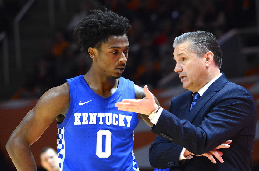 Kentucky point guard Ashton Hagans declared for the NBA Draft on Sunday and has opted to forgo his final two years of eligibility. (Kentucky Today/Keith Taylor)