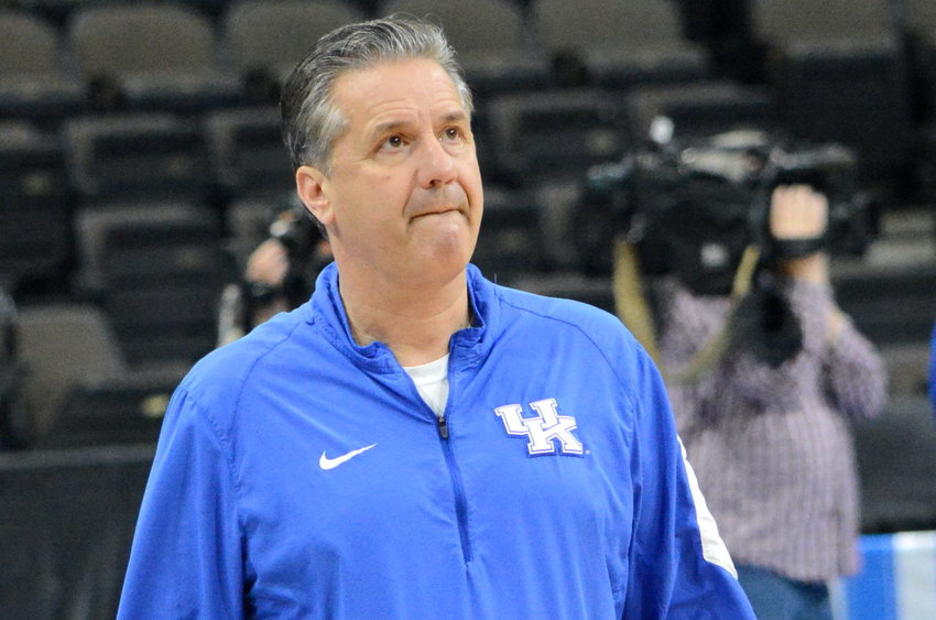 John Calipari and the Wildcats will take on Louisville Saturday at 1 p.m.  (Kentucky Today/Keith Taylor)