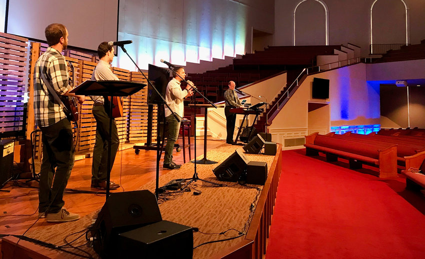 Worship teams, like this one at Roswell Street Baptist Church in Marietta, Ga., will be playing in empty sanctuaries a few more weeks -- a bit longer in some places. Submitted photo