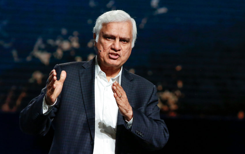 Ravi Zacharias addresses the June 12 evening session at the 2018 Southern Baptist Convention Annual Meeting in Dallas. (Baptist Press file photo)