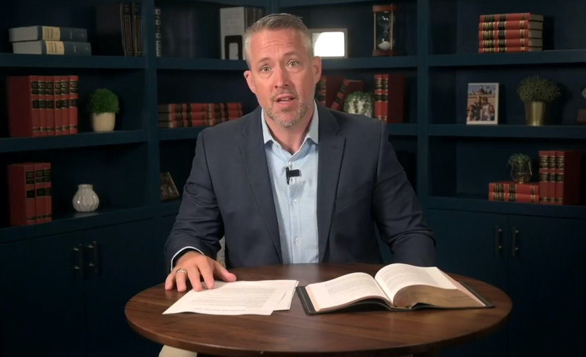 """Promoting diversity, unity, missions and sex abuse prevention are goals the Southern Baptist Convention must continue pursuing to put the """"Gospel Above All,"""" SBC President J.D. Greear said in his 2020 presidential address Tuesday (June 9). Screen capture from J.D. Greear's Facebook page"""