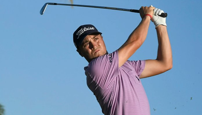 Justin Thomas is contention for the Charles Schwab Challenge title after firing a 64 in the opening round of the four-day event on Thursday. (PGA Tour photo)
