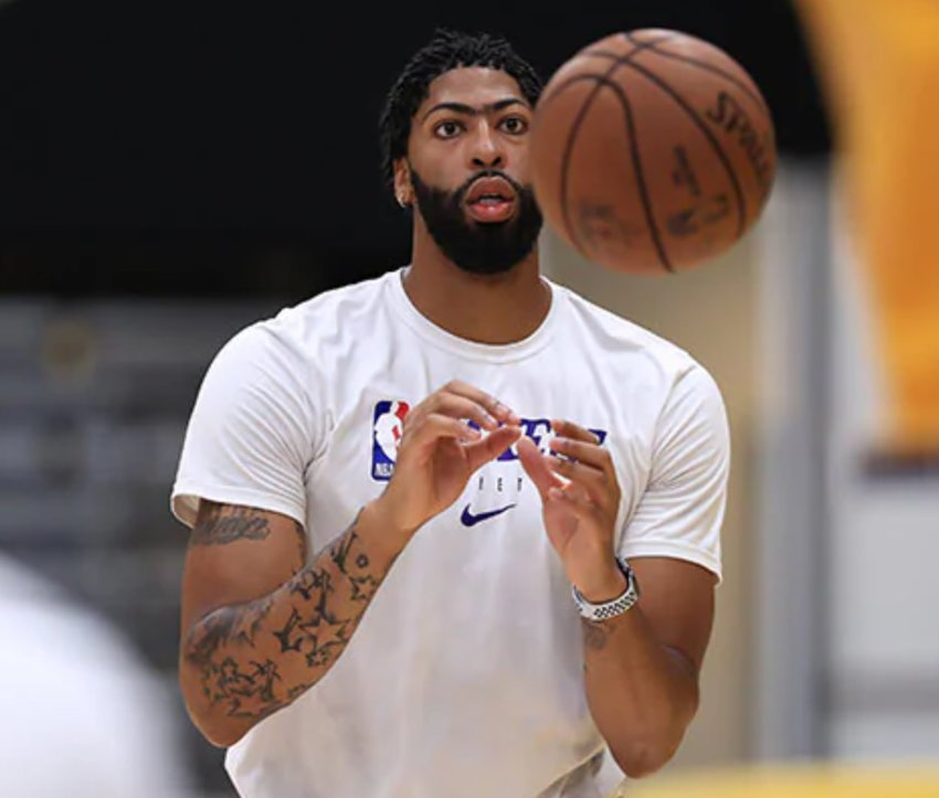 Anthony Davis is eager for the NBA season to resume. Davis is in his first full season with the Los Angeles Lakers. (LA Lakers Photo)