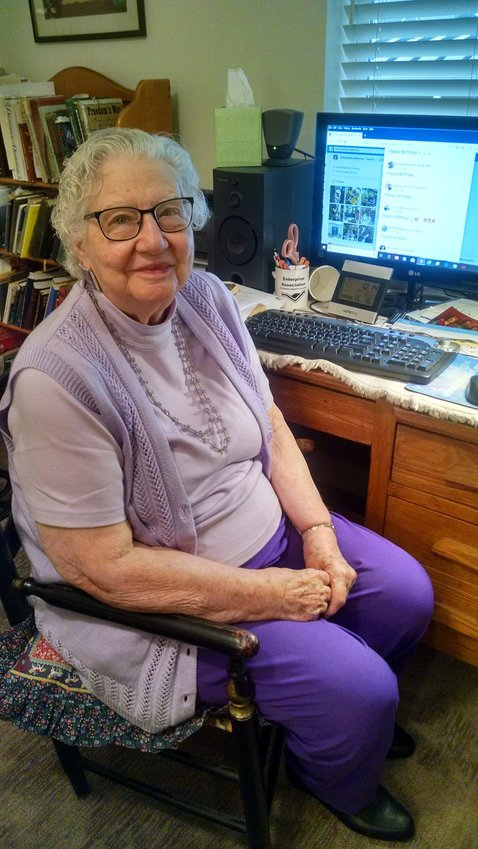 """June Rice, 94, said being isolated in her assisted living apartment is """"like being in jail."""" She misses her church and Sunday School class."""