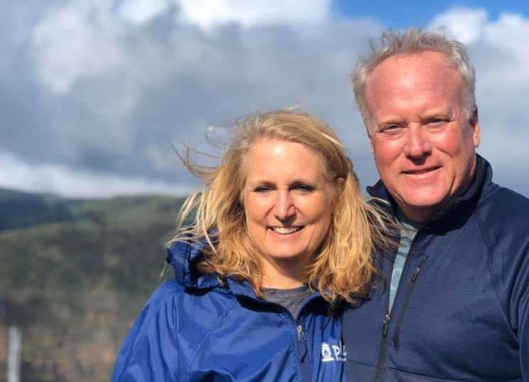 Jeff Fuson and wife Julie. The pastor of the Phos Community Church in Oldham County died Saturday morning from COVID-19, the family said. (Facebook photo)