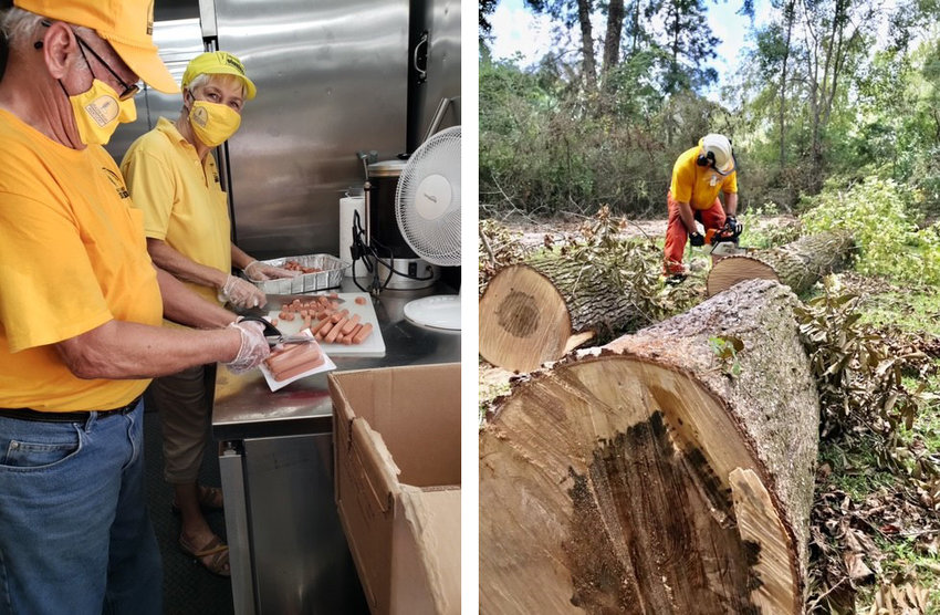 Kentucky Baptist Disaster Relief workers are working in Louisiana this week to aid victims of Hurricane Laura. BELOW: Photos from feeding teams and chainsaw teams from the Kentucky DR. Trees on rooftops are the biggest challenge while the feeding teams take care of those needs. (Submitted photos)