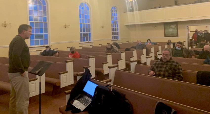Associational Missions Strategist Steve Butler speaks to a group from the Salem Baptist Association. He has encouraged churches to be part of the Gospel To Every Home initiative of the Kentucky Baptist Convention.