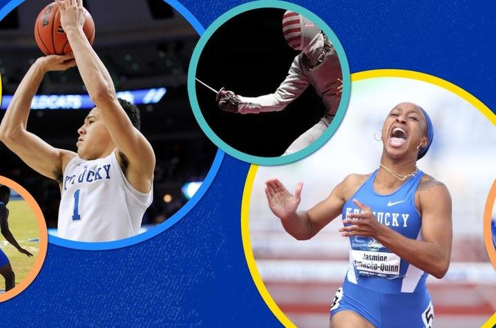 Other notable alumni competing in the Olympics are Devin Booker and Jasmine Camacho-Quinn.