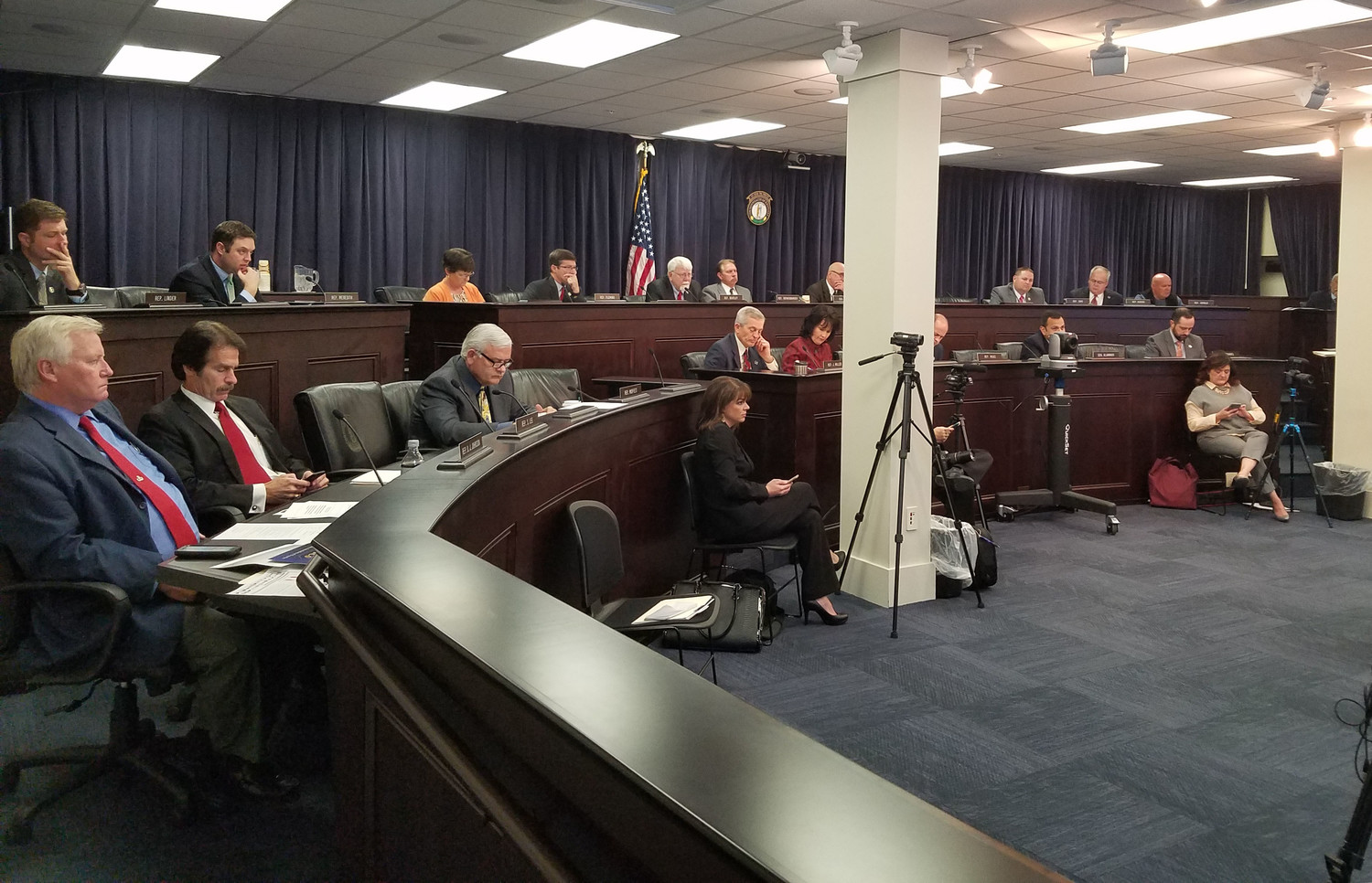 City and county officials had the opportunity to vent local concerns about tax reform and the state pension crisis to the General Assembly's Interim Joint Local Government Committee on Wednesday, Nov. 29, 2017. (Kentucky Today/Tom Latek)