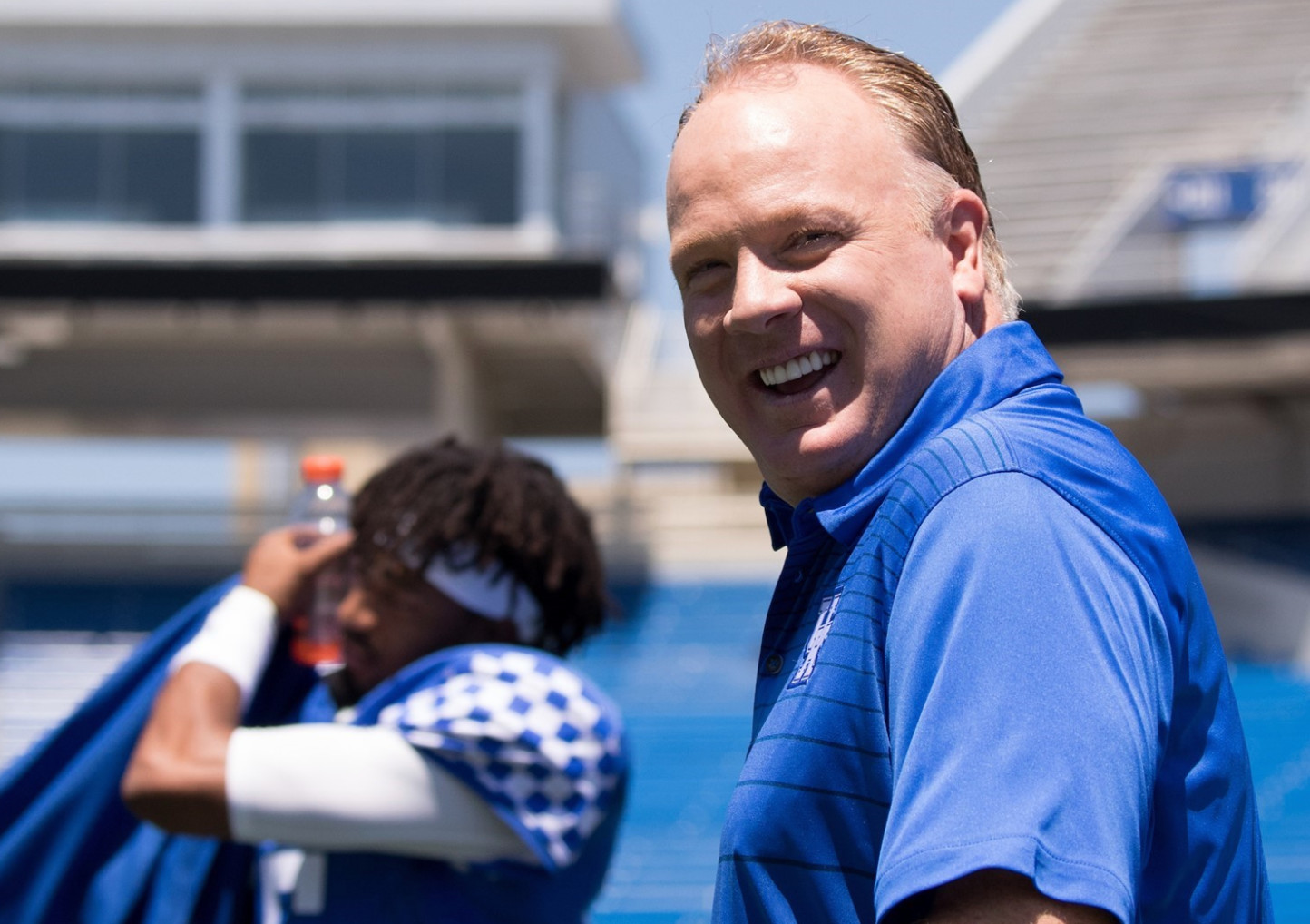 Kentucky coach Mark Stoops seeks a better showing for the Wildcats in the postseason this year after last year's33-18 setback to Georgia Tech in the TaxSlayer Bowl. (UK Athletics Photo)