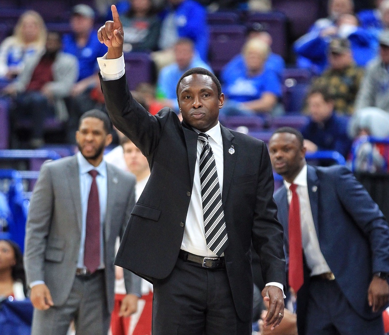 Alabama coach Avery Johnson and the Crimson Tide will take on Kentucky Friday at Bridgestone Arena in Nashville. (Tammie Brown/Kentucky Today)