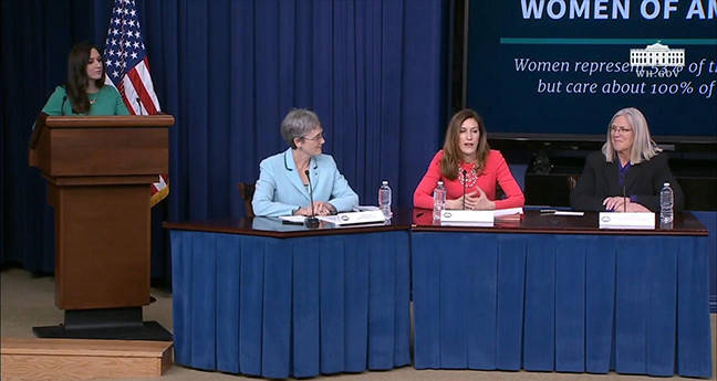 Jessica Ditto, far left, moderates a women's forum in Washington, D.C.. (Submitted photo)