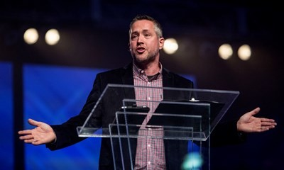 J.D. Greear was elected as president of the Southern Baptist Convention on Tuesday. (Baptist Press file photo by Bill Bangham)
