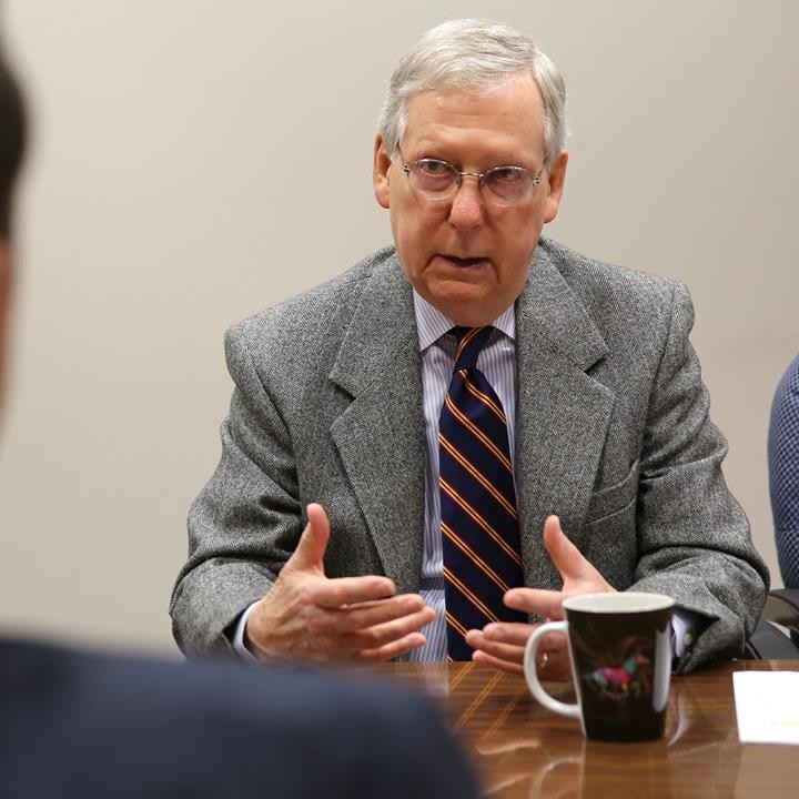 Senate Majority Leader Mitch McConnell authored and sponsored legislation to battle opiods. It easily made it through the House and Senate. (Kentucky Today file photo)
