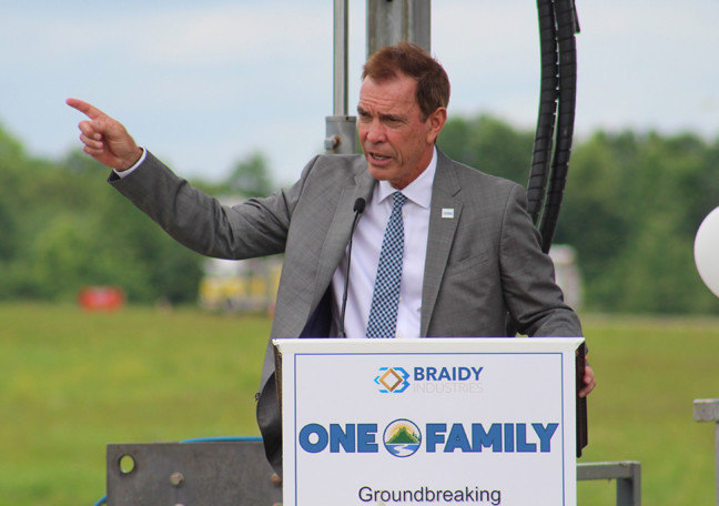 Braidy Industries CEO Craig Bouchard at the company groundbreaking in June 2018. (Mark Maynard/Kentucky Today)