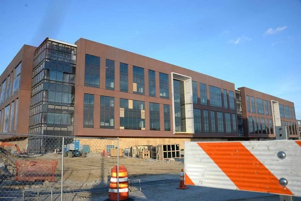 The new state office building in Frankfort could be open this summer. (Kentucky Today/Tom Latek)