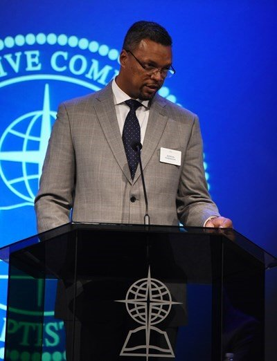"The search committee seeking the next president of the Southern Baptist Convention Executive Committee has ""identified God's candidate for such a time as this"" and will announce the nominee ""very soon,"" search committee vice chairman Adron Robinson reported Tuesday. (Photo by Morris Abernathy)"