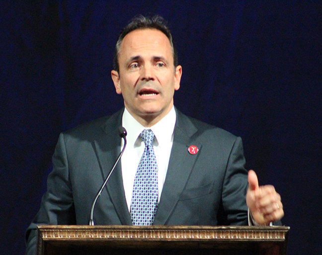 Gov. Matt Bevin says lawmakers must do something with the public pension reform. (Kentucky Today/Mark Maynard)