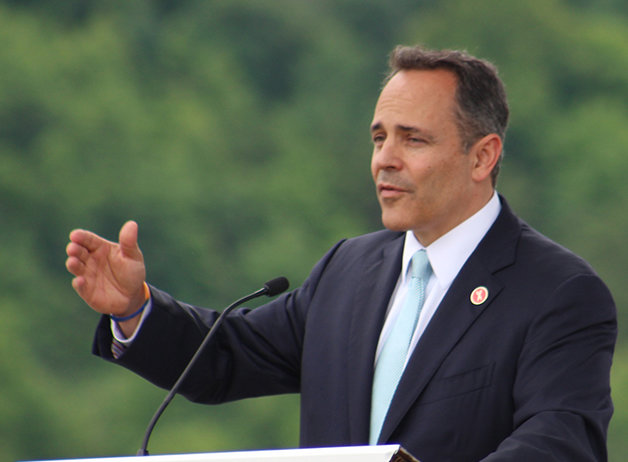 Gov. Matt Bevin celebrated a 6th U.S. Circuit Court of Appeals panel ruling that upholds Kentucky's ultrasound abortion law. (Kentucky Today/Mark Maynard)