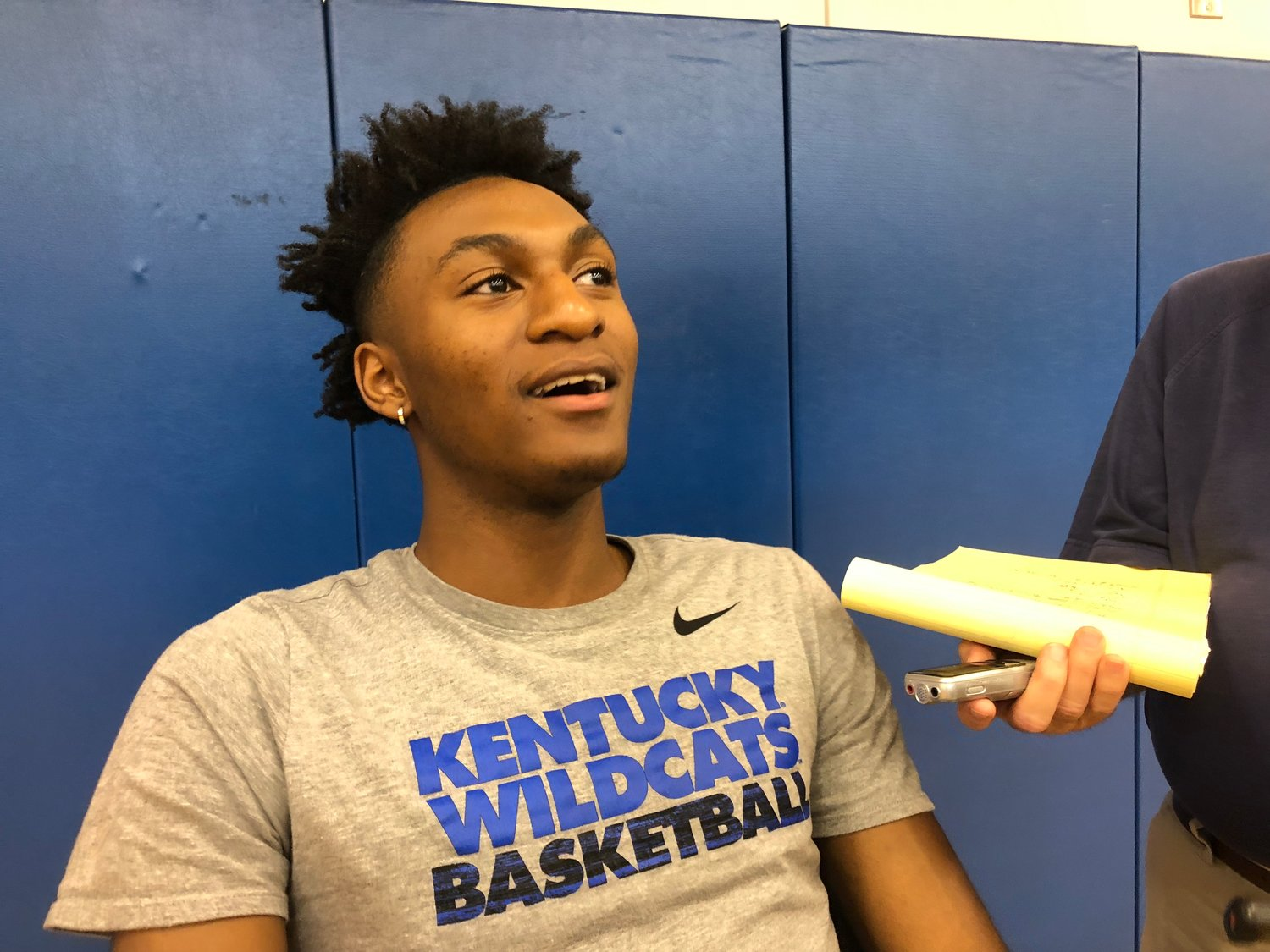 Immanuel Quickley is excited going into his second season with the Wildcats and joins classmate Ashton Hagans in the backcourt. (Kentucky Today/Keith Taylor)