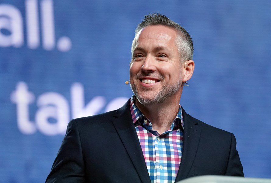 North Carolina pastor J.D. Greear was reelected by acclamation to a second term as president of the Southern Baptist Convention (SBC) during the June 11-12 SBC annual meeting in Birmingham, Ala.  (Photo by Kathleen Murray)