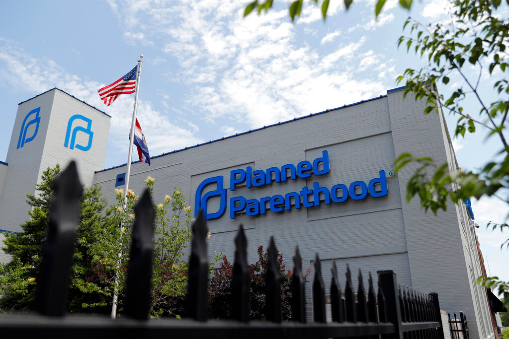 In this June 4, 2019, file photo, a Planned Parenthood clinic is photographed in St. Louis. (AP Photo/Jeff Roberson, File)