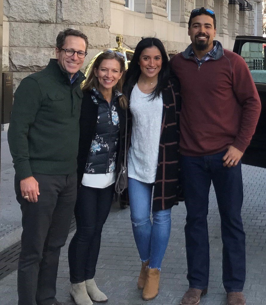 Greg Matte (left), senior pastor of Houston's First Baptist Church, and his wife Kelly during a visit to Washington, D.C., with Nationals third baseman Anthony Rendon (right) and his wife Amanda. Submitted photo