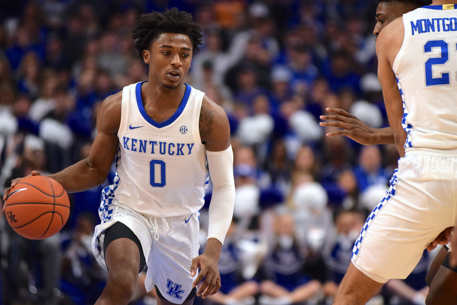 Ashton Hagans scored 21 points and added seven rebounds and seven assists in Kentucky's 67-53 win over George Tech Saturday at Rupp Arena. (Kentucky Today/Chris Reynolds)