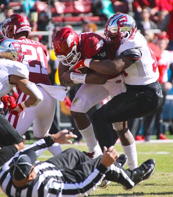 WKU's win over Arkansas was one of the high points of the 2019 season that was worth $35 million, a survey said. (WKU Athletics photo)