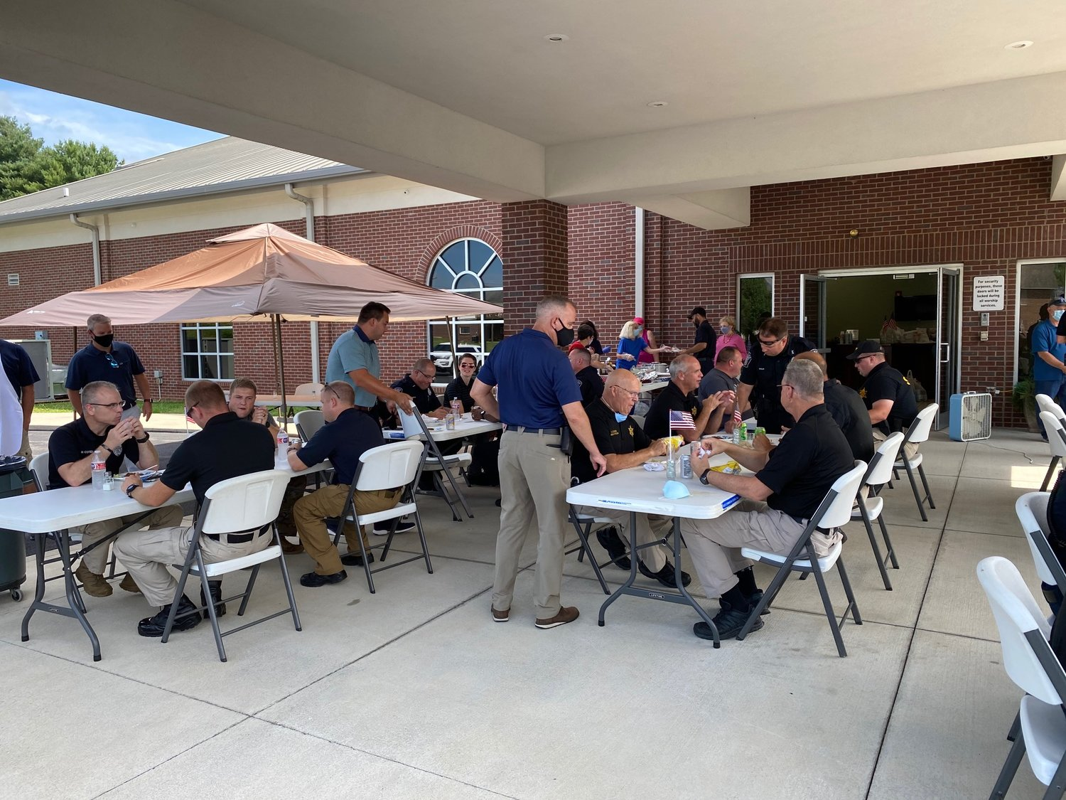 First responders from Somerset were treated to hamburgers and hot dogs by Immanuel Baptist Church recently.