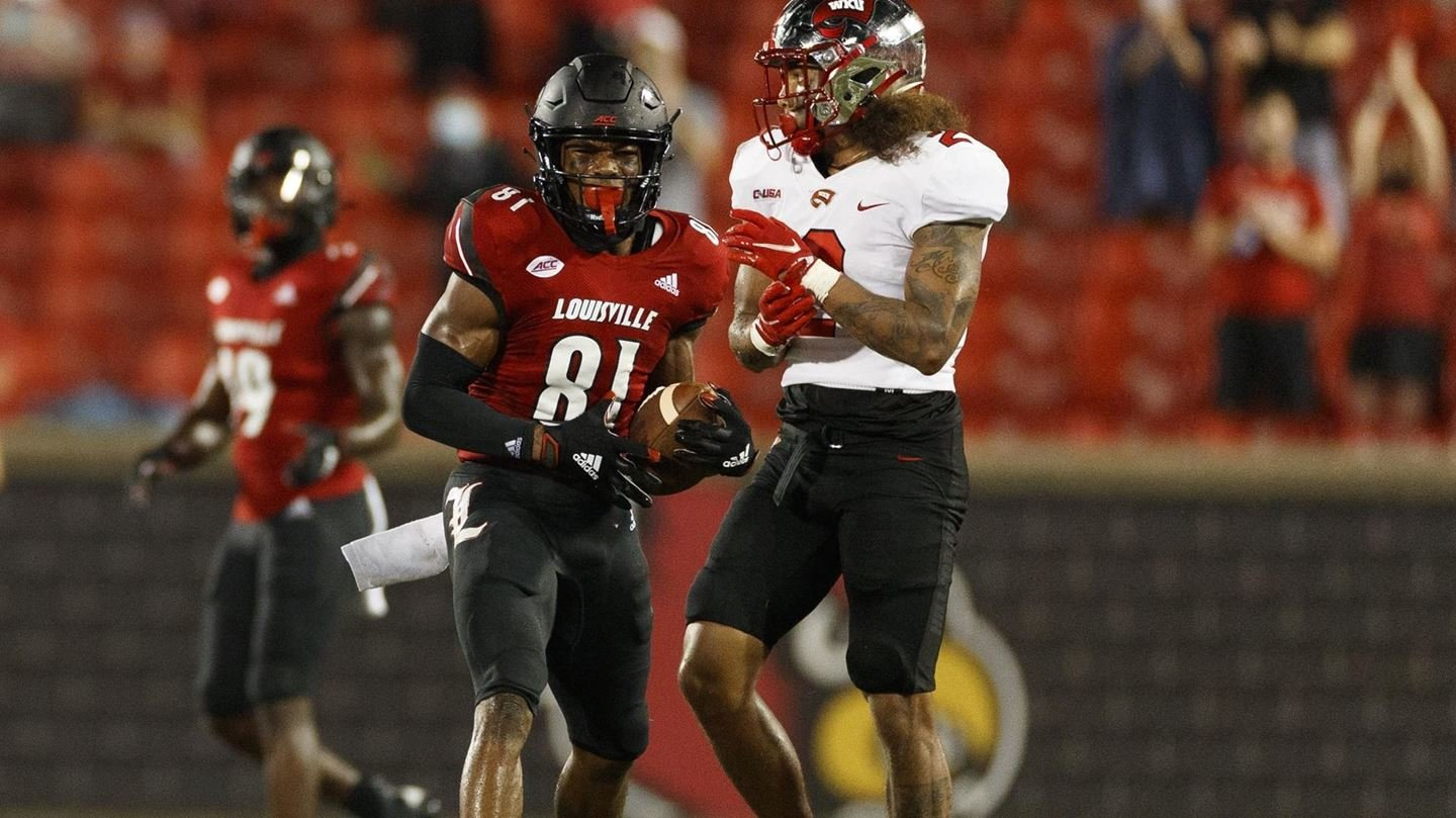 Braden Smith was named the ACC Receiver of the Week. (Louisville Athletics photo)