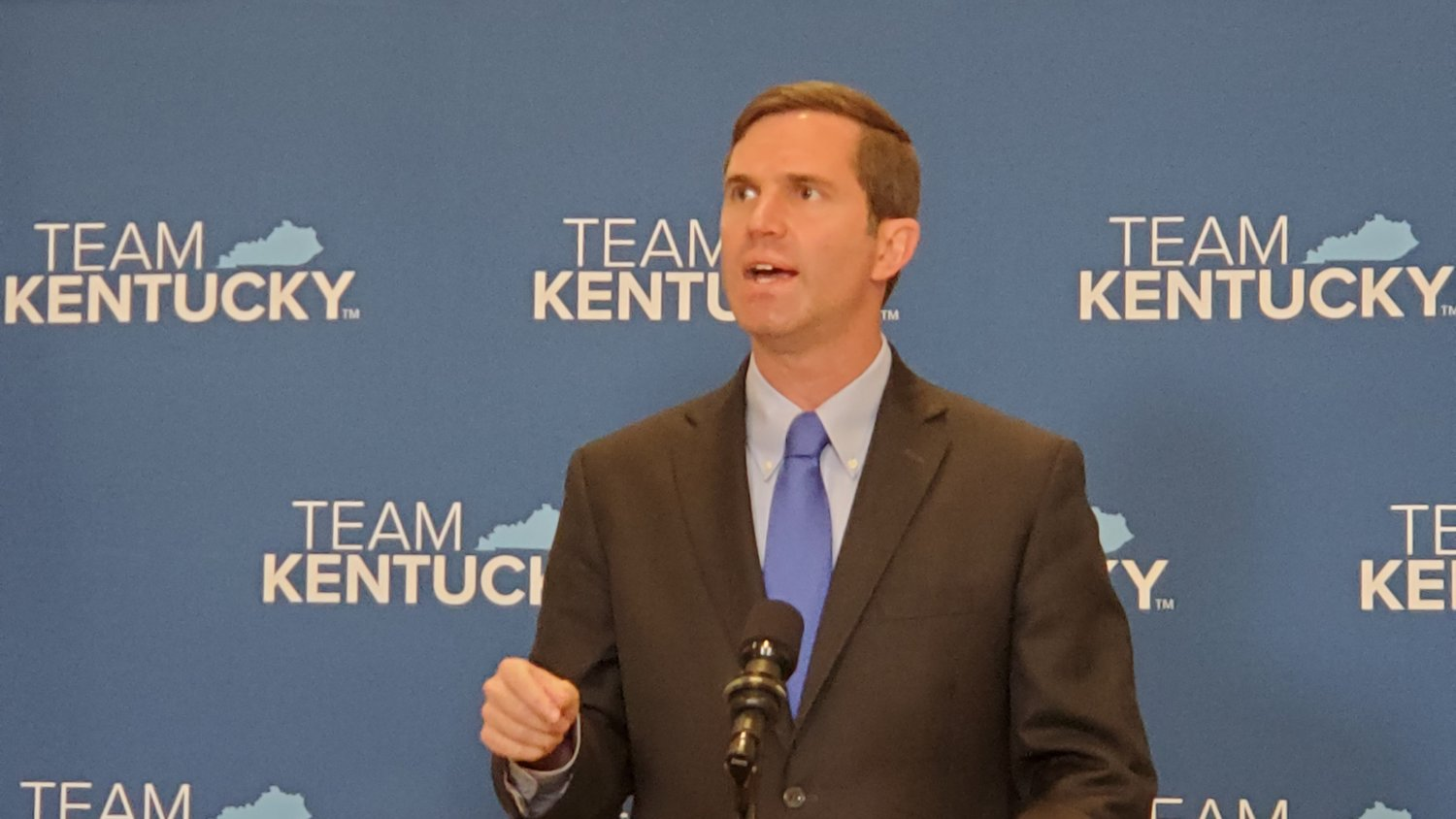 Gov. Andy Beshear said he was signing 10 bills and vetoeing three on Tuesday at a press conference.
