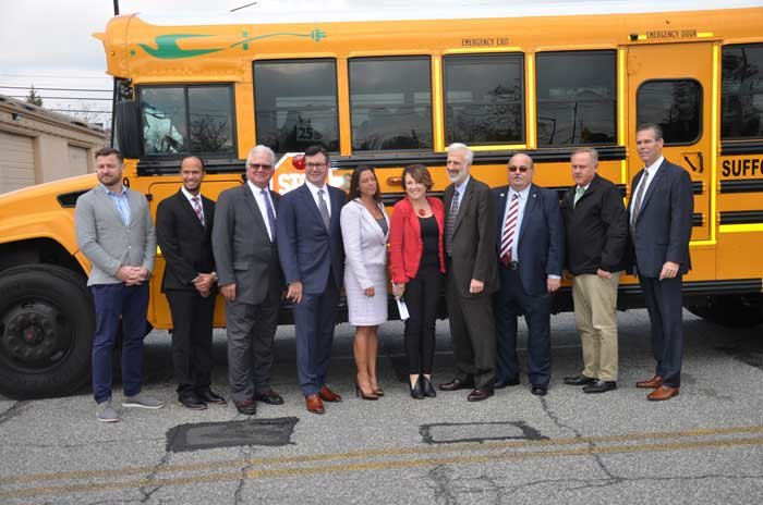 Bay Shore School District and Suffolk Transportation Service have worked together with the EPA, Blue Bird Buses and Cummins to purchase the first four fully electric school buses in New York.