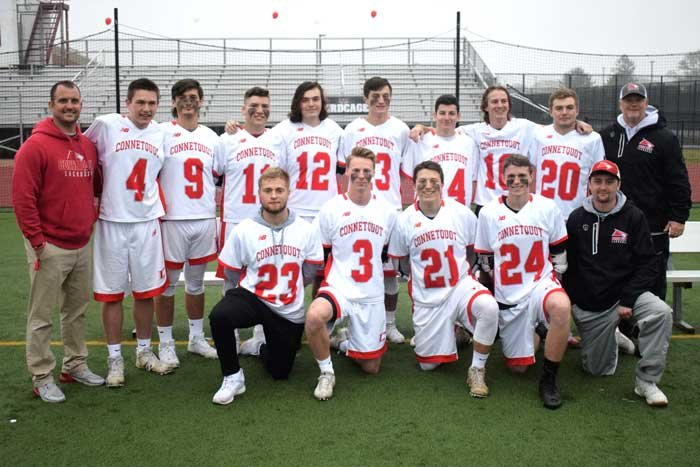 Connetquot High School boys lacrosse coaches thank their seniors for their dedication and leadership.