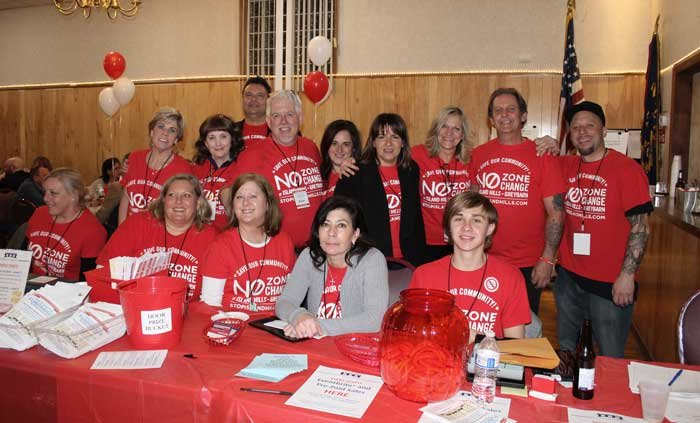 The volunteers of the Greater Islip Association and Stop Island Hills during last Friday's successful fundraiser.